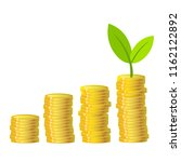 green plant and gold money... | Shutterstock . vector #1162122892
