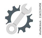 repair service icon. black cog... | Shutterstock . vector #1162124458