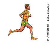 running marathon  people run ... | Shutterstock . vector #1162126288
