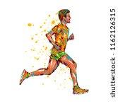 running marathon  people run ... | Shutterstock . vector #1162126315
