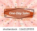 banner sale in the style of pin ... | Shutterstock .eps vector #1162129555