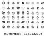 abstract logos collection.... | Shutterstock .eps vector #1162132105