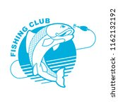 fish and fishing rod emblem.... | Shutterstock .eps vector #1162132192