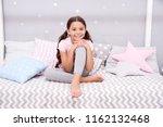 wish her sweet dreams. girl... | Shutterstock . vector #1162132468