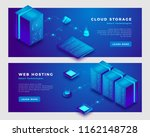 cloud storage and web hosting... | Shutterstock .eps vector #1162148728