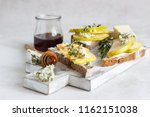 toast or bruschetta with... | Shutterstock . vector #1162151038