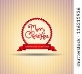 ribbon merry christmas award  ...   Shutterstock .eps vector #116215936