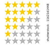 5 star rating. illustration... | Shutterstock . vector #1162161448