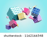 abstract geometric background... | Shutterstock .eps vector #1162166548