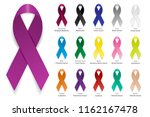 cancer ribbon. vector realistic ... | Shutterstock .eps vector #1162167478