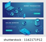 money transaction and online... | Shutterstock .eps vector #1162171912