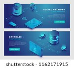 social network and database... | Shutterstock .eps vector #1162171915