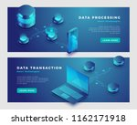 data processing and transaction ... | Shutterstock .eps vector #1162171918