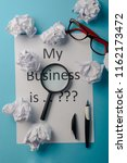 my business is word concept.... | Shutterstock . vector #1162173472