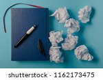 desk with tools and notebook... | Shutterstock . vector #1162173475