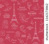 paris romantic seamless pattern.... | Shutterstock .eps vector #1162173862