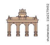 triumphal arch icon. cartoon... | Shutterstock .eps vector #1162175452