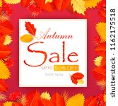 autumn sale text vector banner... | Shutterstock .eps vector #1162175518