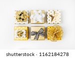 flat lay christmas or party... | Shutterstock . vector #1162184278
