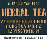 handdrawn inky sans serif... | Shutterstock .eps vector #1162184518