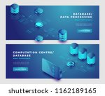 data processing and database... | Shutterstock .eps vector #1162189165