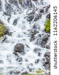 Closeup Of Waterfalls On The...