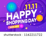 happyl sale poster or flyer... | Shutterstock .eps vector #1162211722