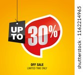 sale up to 30 percent off... | Shutterstock .eps vector #1162214965