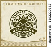 vintage all natural products... | Shutterstock .eps vector #1162220362