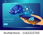 smart home structure web page... | Shutterstock .eps vector #1162222765