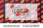 autumn leaves background.autumn ... | Shutterstock .eps vector #1162224805