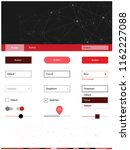 light red vector web ui kit in...