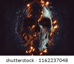 Dark Black Skull   Glowing...