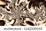 Brown And Beige Fractal Pattern