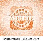 athlete orange mosaic emblem...   Shutterstock .eps vector #1162258975