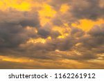 sky and clouds after sunset   | Shutterstock . vector #1162261912