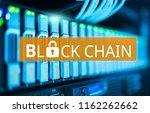 concept of  blockchain ... | Shutterstock . vector #1162262662