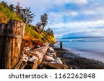 Small photo of A rustic jumbled beach scene on Whidbey Island, Washington