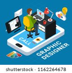 colorful graphic design concept ...   Shutterstock .eps vector #1162264678