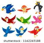 a set of beautiful bird... | Shutterstock .eps vector #1162265188
