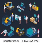 industrial applications of... | Shutterstock .eps vector #1162265692