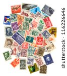 collection of old postage... | Shutterstock . vector #116226646