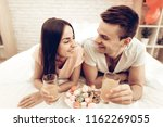 beautiful couple together on... | Shutterstock . vector #1162269055