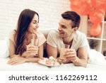 beautiful couple together on... | Shutterstock . vector #1162269112