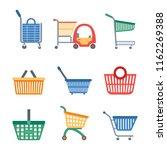 shopping cart icons set. flat... | Shutterstock .eps vector #1162269388