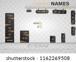 set signage.direction pole ... | Shutterstock .eps vector #1162269508