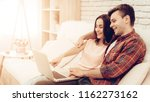 beautiful couple are watching...   Shutterstock . vector #1162273162