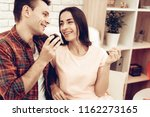 beautiful couple together on...   Shutterstock . vector #1162273165