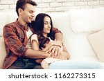 beautiful couple together on... | Shutterstock . vector #1162273315