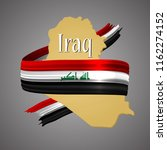 iraq flag and map.official...   Shutterstock .eps vector #1162274152